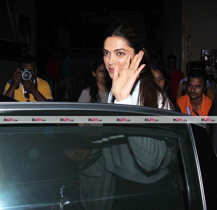 Deepika Padukone clicked outside Mehboob studio on Wednesday