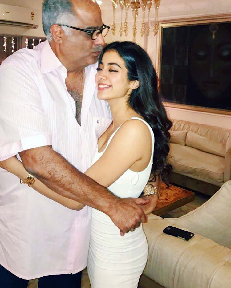 Janhvi Kapoor's cute Insta post with father Boney Kapoor