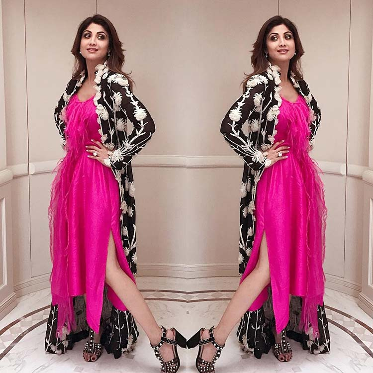 Shilpa Shetty all dolled up to meet the Royals in Delhi