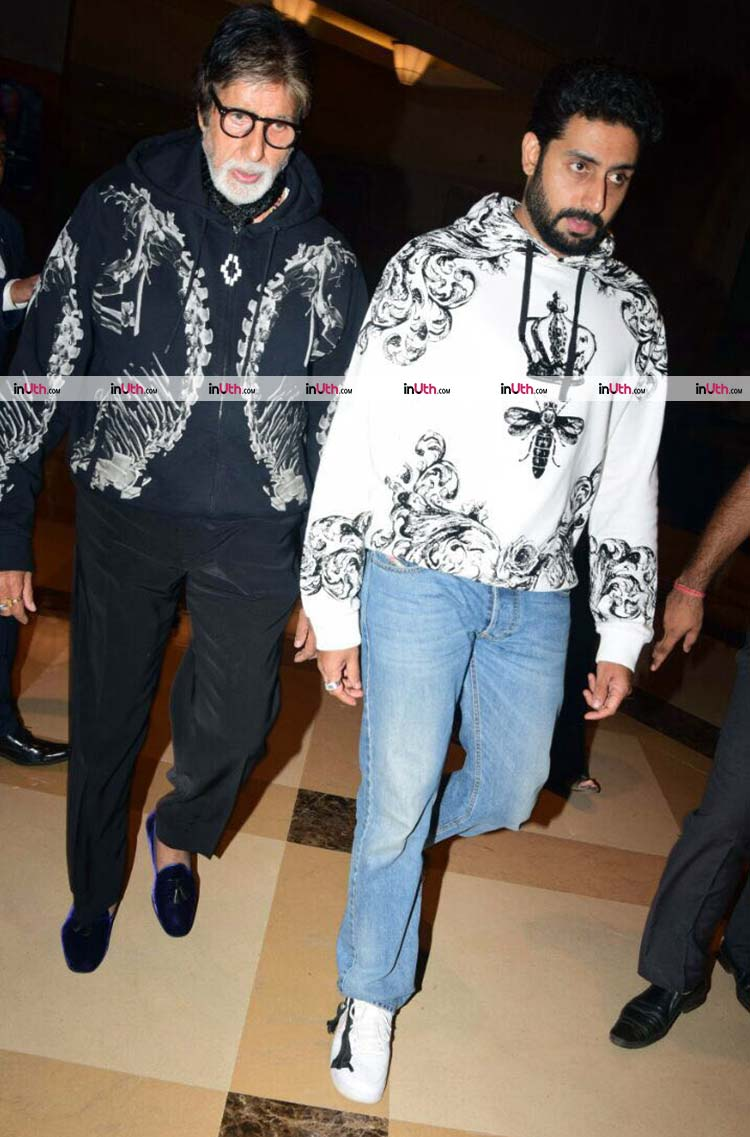 Amitabh and Abhishek Bachchan at Aaradhya's birthday party