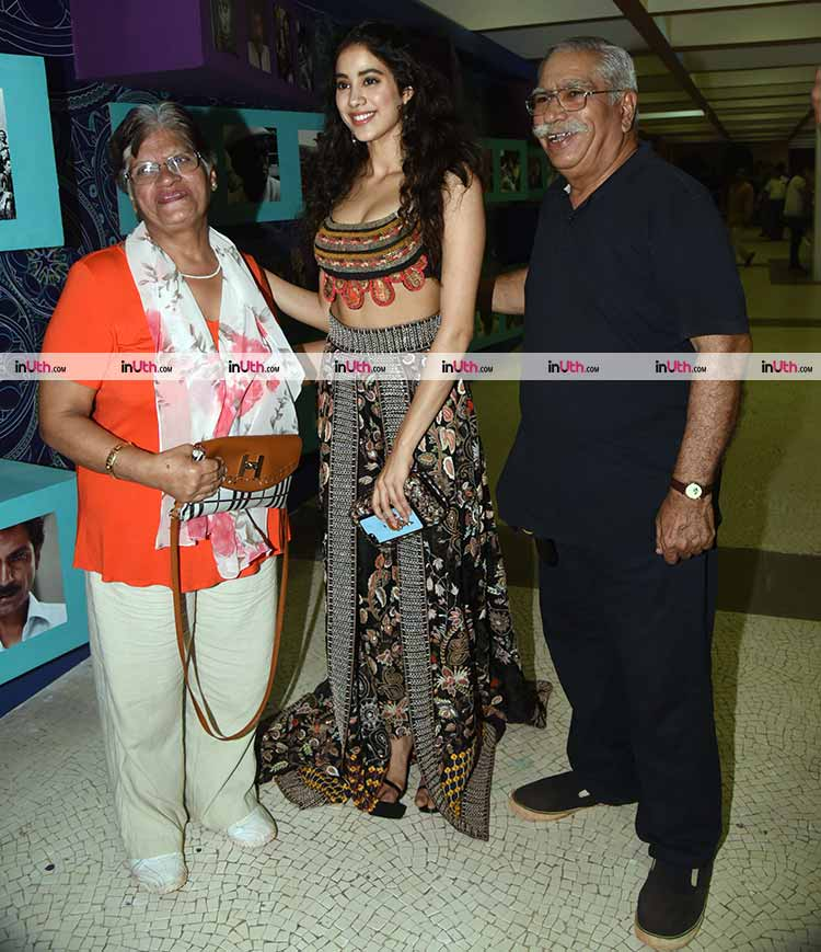 Janhvi Kapoor at Beyond The Clouds screening