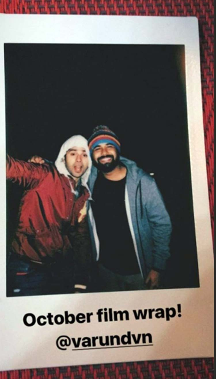 Varun Dhawan looks cute in this pic from October set