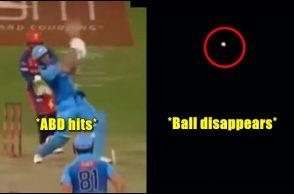 AB de Villiers, AB de Villiers 19-ball-50, AB de Villiers huge six, AB de Villiers 360 shots, Huge sixes from AB de Villiers