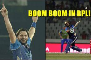 Shahid Afridi, Shahid Afridi BPL 2017, Shahid Afridi Dhaka Dynamites, Dhaka Dynamites vs Sylhet Sixers, Shahid Afridi BPL bowling, Shahid Afridi six hitting
