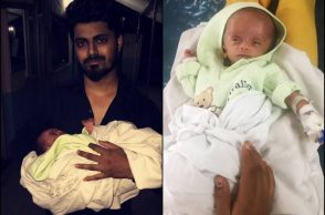 Aman and newborn