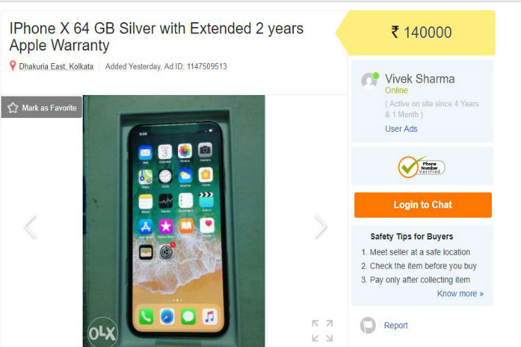 Apple iphone x is available on olx for rs 140000 apple iphone x reheart Gallery