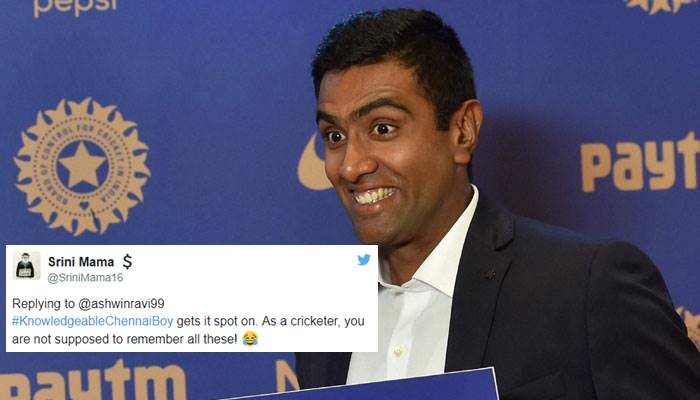 Ravichandran Ashwin answers a cricket quiz question within 2 minutes, stuns everyone with his speed