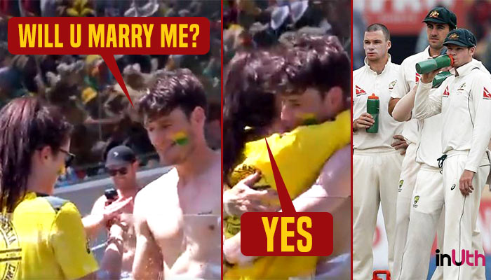 Caught on cam! Boy proposes a girl during 1st Ashes Test at Gabba — WATCH