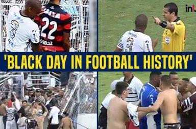Angry crowd, Angry Brazilian crowd, Angry crowd football, Ponte Preta, Ponte Preta suspended, Rodrigo, Ponte Preta vs Vitoria, football fights, Ugly football fights, shameful fights in football