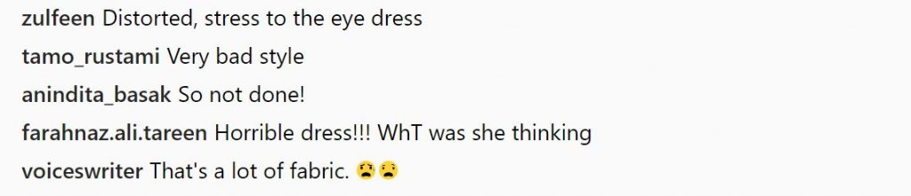 Comments on Priyanka Chopra's outfit