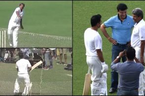 MS Dhoni, Kapil Dev, Kapil Dev MS Dhoni, Kapil Dev bouncer, MS Dhoni surprised, Sourav Ganguly, Eden Gardens