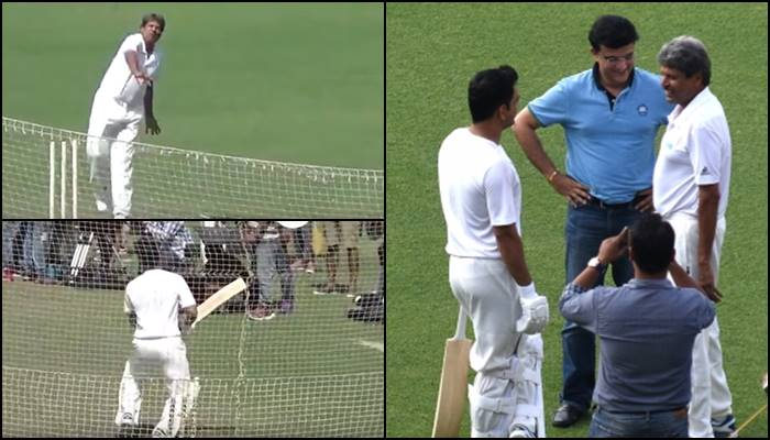 Kapil Dev surprises MS Dhoni with a bouncer during a commercial shoot at Eden Gardens— Watch Video
