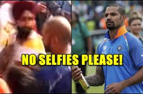 Shikhar Dhawan, Shikhar Dhawan angry, Shikhar Dhawan pushes fan, Shikhar Dhawan misbehaves, Shikhar Dhawan aggression, India vs Sri Lanka 2017, India vs Sri Lanka Delhi Test