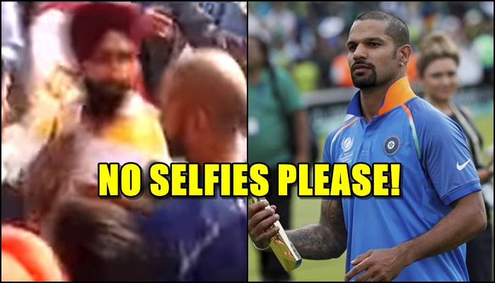 Shikhar Dhawan pushes fans for surrounding him to take selfies in Delhi — WATCH