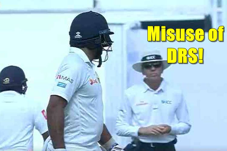 Dilruwan Perera's 'brainfade' moment, takes DRS after consulting teammates in dressing room — WATCH
