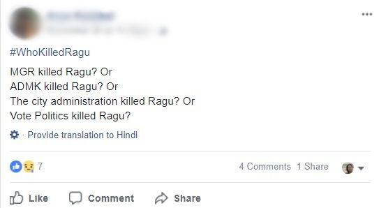 Who killed Ragu