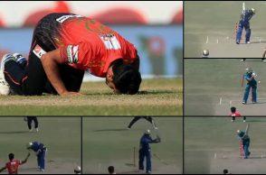 Hasan Ali, Hasan Ali bowling, Hasan Ali wickets, Hasan Ali yorkers, Hasan Ali celebration video, Hasan Ali BPL 2017, BPL 2017, Dhaka Dynamites vs Comilla Victorians, Hasan Ali World T20 record, T20 records, T20 bowling records