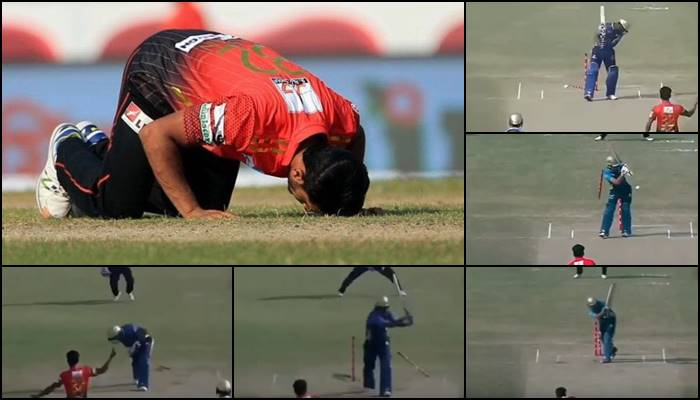 Hasan Ali shatters stumps five times in a single game in BPL 2017, equals world record in T20s —WATCH
