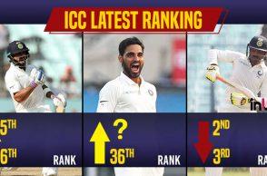 Virat Kohli rankings, ICC Test rankings, Bhuvneshwar Kumar rankings, Mohammed Shami rankings, Ravindra Jadeja rankings, Niroshan Dickwella rankings, Dilruwan Perera rankings