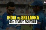 India vs Sri Lanka: BCCI re-schedules first two ODIs due to inclement weather