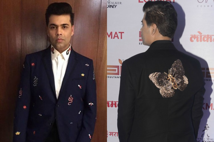 Butterflies to bugs: Karan Johar loves blingy motifs and so do we