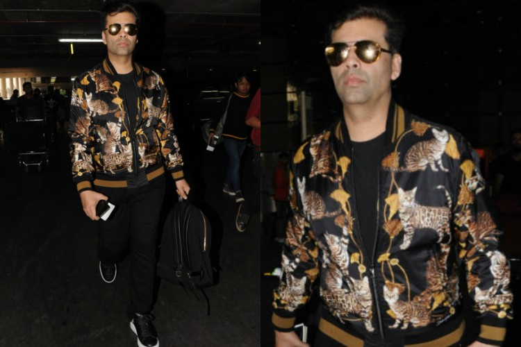 Errm..Is this the quirkiest jacket ever worn by Karan Johar?