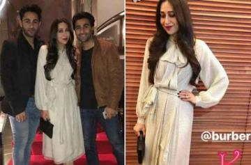 Karisma Kapoor parties with Aadar and Armaan Jain