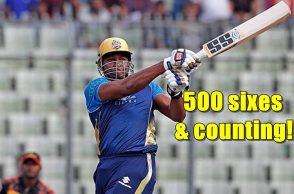 Kieron Pollard 500 sixes, Most sixes in T20s, Kieron Pollard T20 records, BPL 2017, Bangladesh Premier League 2017, Dhaka Dynamites