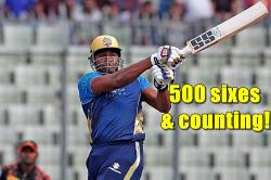 Kieron Pollard inches closer to Chris Gayle, becomes second batsman to hit 500 sixes in T20s — WATCH