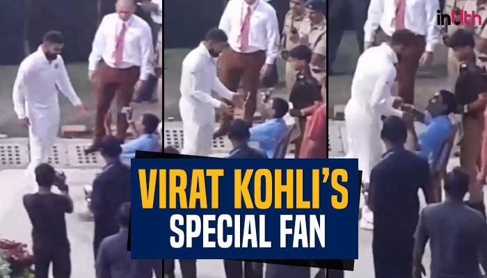 Virat Kohli breaks security cover to meet his 'special friend' at Eden Gardens –WATCH