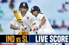 India vs Sri Lanka 1st Test Day 3 live, live cricket score, India vs Sri Lanka 2017, Kolkata Test, Eden Gardens, Virat Kohli, Suranga Lakmal, India vs Sri Lanka live score, Cheteshwar Pujara, Wriddhiman Saha