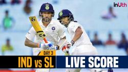 Live, India vs Sri Lanka 1st Test, Day 3 Live Cricket Score: Yadav strikes again, Mathews departs for 52!