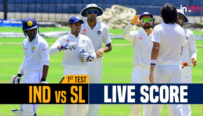 Live, India vs Sri Lanka 1st Test, Day 5 Live Cricket Score: Kohli-Jadeja at crease, lead goes par 100 runs