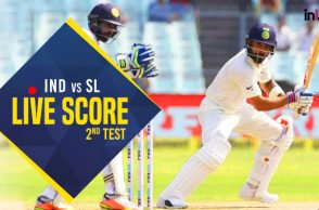 Live, India vs Sri Lanka 2nd Test Day 2, Live Cricket Score