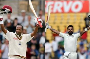Virat Kohli, Virat Kohli double century, Virat Kohli 5th double century, Most double ton in 2017, Most double ton in a calendar year, Most double ton as a captain, Brian Lara, Most centuries in a Test innings