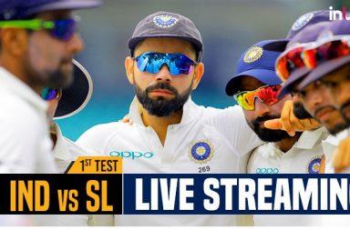 India vs Sri Lanka 1st Test match Live Streaming