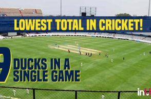 Lowest total in cricket