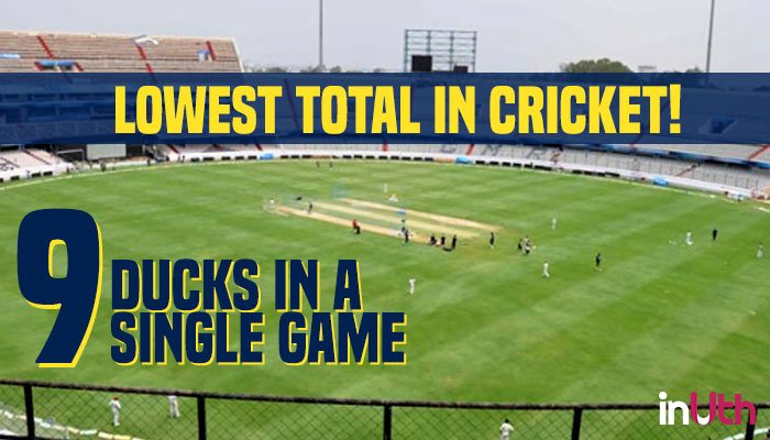 Lowest total in cricket! An Indian team bowled out for just 2runs