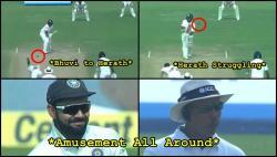Virat Kohli, on-field umpire amused after Rangana Herath survives Bhuvneshwar Kumar's lethal swing - Watch