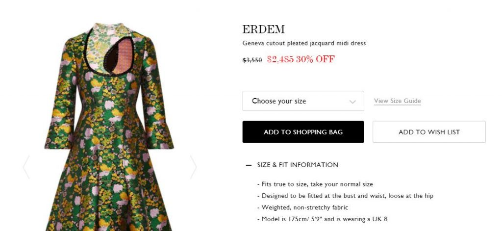 Midi Dress from ERDEM