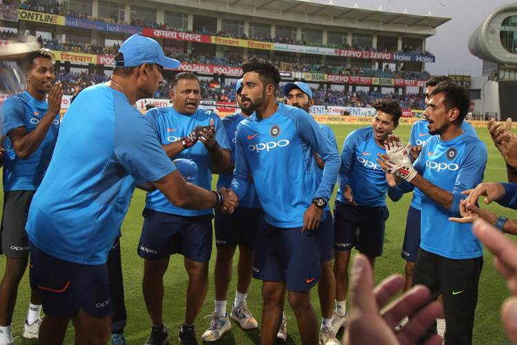 Mohammed Siraj made his T20I debut against New Zealand