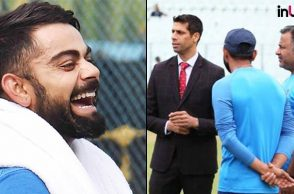 Here's why Virat Kohli & Co. laughed after seeing Ashish Nehra at Eden Gardens on Day 2