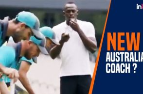 Usain Bolt trains Australian Cricketers