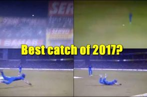 Hardik Pandya catch, Hardik Pandya best catch, best catch of 2017, India vs New Zealand 2017, India vs New Zealand 1st T20I, Yuzvendra Chahal, Martin Guptill