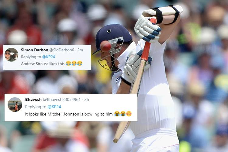 Kevin Pietersen gets trolled by Twitterati after getting hit for a bouncer — WATCH