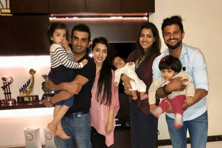 Suresh Raina meets Gautam Gambhir's daughter for the first time, his reaction will melt your heart!
