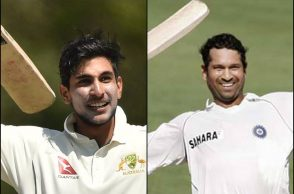 Jason Sangha, Sachin Tendulkar, Sangha-Tendulkar, Youngest to hit First-Class hundred against England, Cricket Australia XI vs England, Ashes 2017-18, Jason Sangha First-Class record, Jason Sangha record