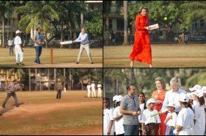 Virender Sehwag, Virender Sehwag playing cricket, Belgium King and Queen, Virender Sehwag UNICEF, Virender Sehwag Mumbai, Virender Sehwag Oval Maidan, Belgium royal couple Virender Sehwag