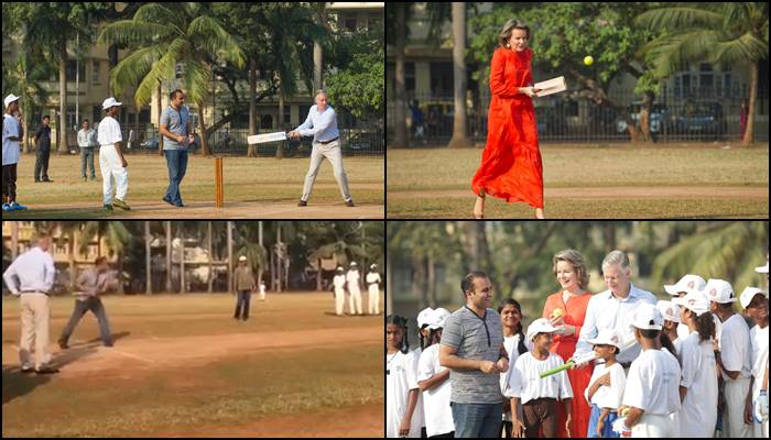 Virender Sehwag returns to the 22-yard pitch, plays with Belgium's King and Queen — Watch Video