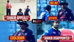 Shakib Al Hasan shouts at umpire during BPL match for not giving batsman out, gets punished by BCB - Watch